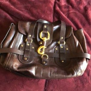 Chloe leather brown bag